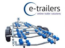 EXTREME 3500kg SUPER ROLLER BOAT TRAILER - 64 ROLLERS SWING CRADLES - UP TO 24ft BOATS RIBS 7.8m